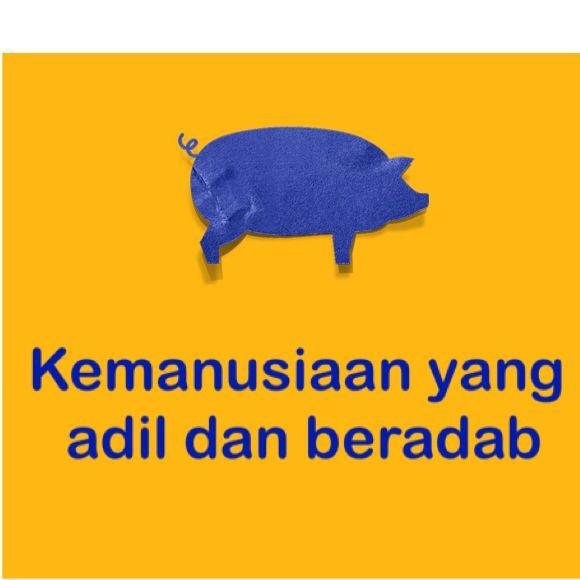 Secara teknis, leher babi gak didesain untuk menengadah ke atas.