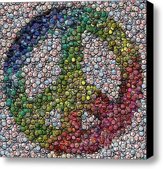 bottle cap art....a reason to drink more beer!!