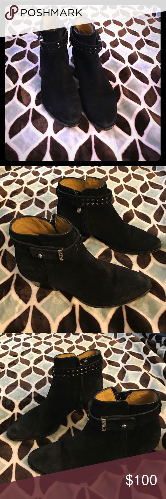 Black Nappa leather studded ankle boots Nice looking boots BARBARA BUI Shoes Ankle Boots & Booties