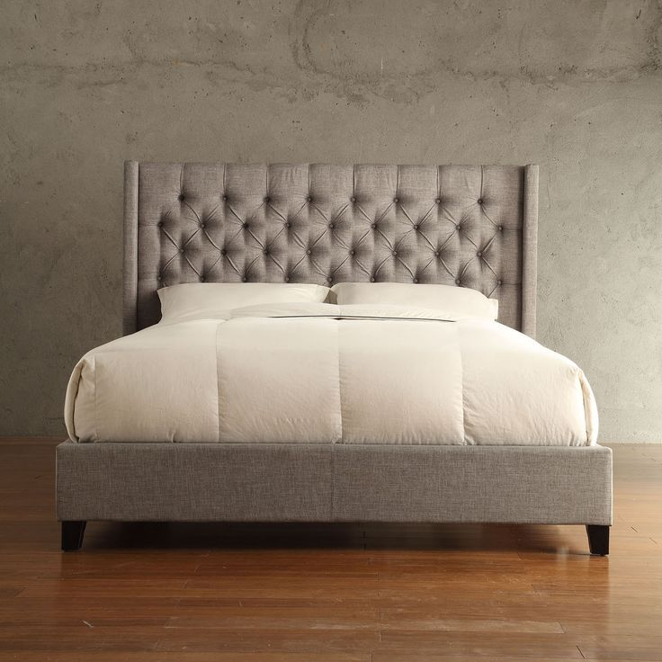 Relax on your personal cloud with the Naples Collection bed. The headboard features a button-tufted and wingback shape that will make this the centerpiece of your room.