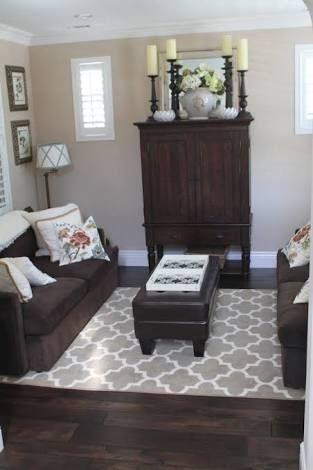 Image result for rugs dark wood floor
