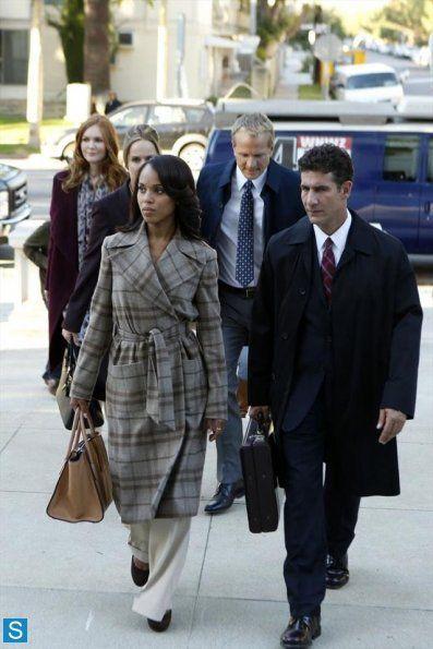Kerry Washington as Oliva Pope in Scandal wearing Ralph Lauren coat