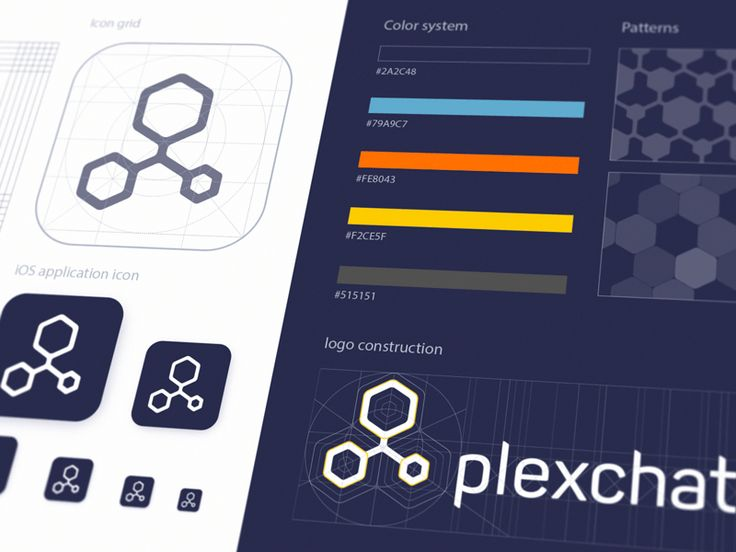 Plexchat Logo Guidelines by Ramotion