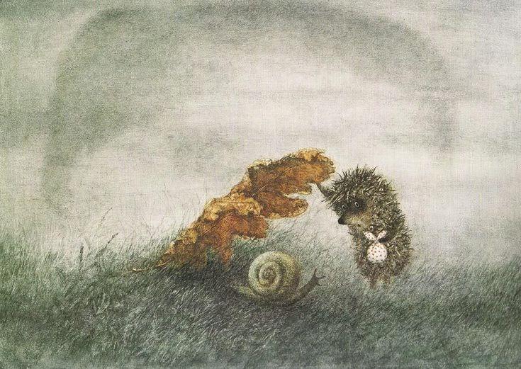 С.Козлов Про Ежика и Медвежонка  Пост с мультфильмами и ссылка на книгу с иллюстрациям.