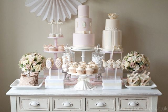 Little Boutique Bakery - Wedding Dessert Table with Wedding Cake, Cupcakes and Biscuits/Cookies