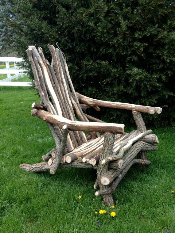 StickaRondack Adirondack Style Chair by artisticsticks on Etsy, $370.00