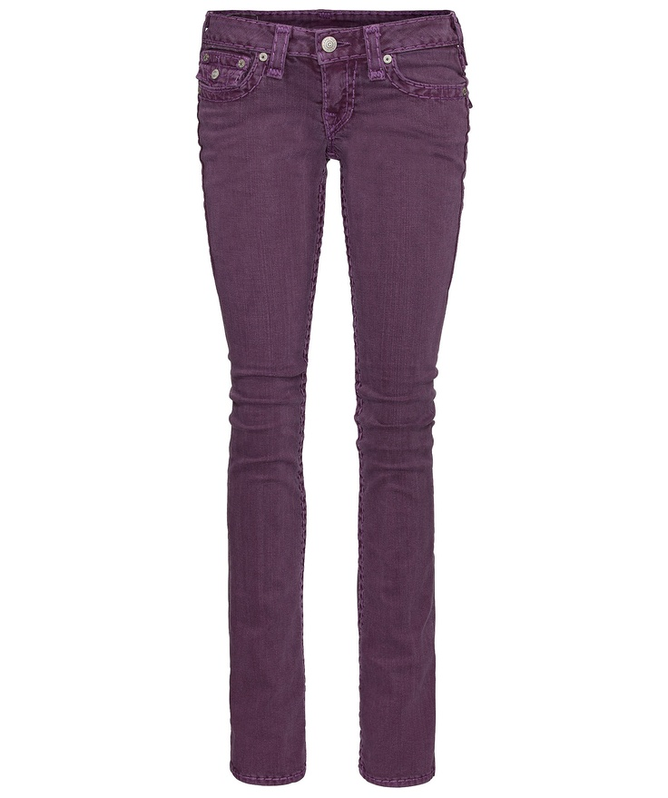"True Religion Damen Coloured-Denim ""Billy"" #jeans #purple #engelhorn  www.fashion.engelhorn.de"