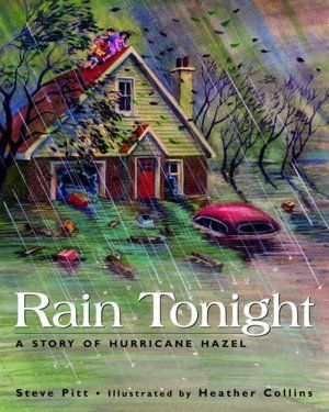 Book 2: nonfiction/science. A book detailing rain activity; specifically hurricanes.