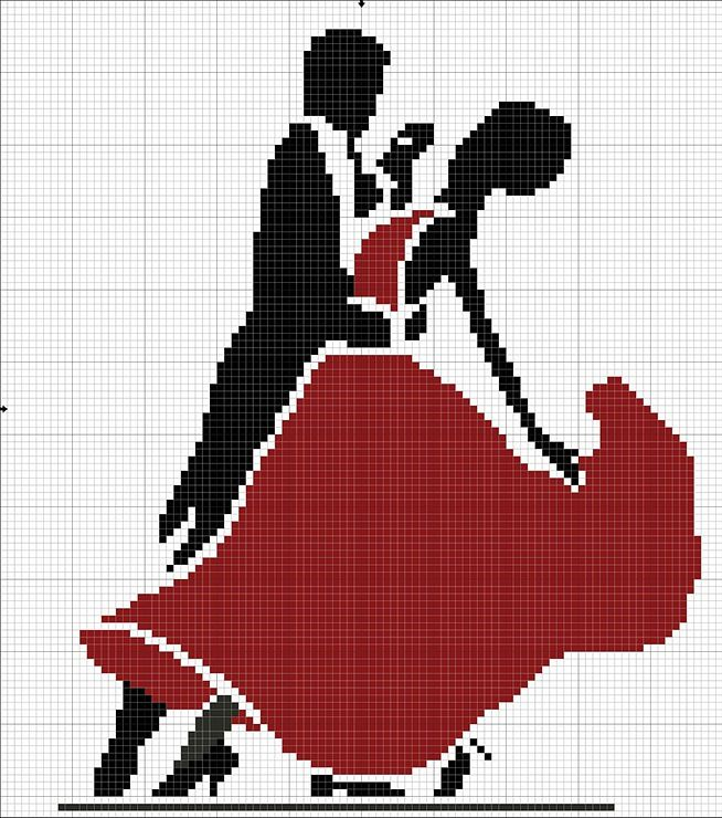 dance couple cross stitch, reminds me I should really start my first cross stitch