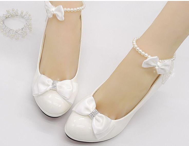 Aliexpress.com: Comprar Zapatos de boda blanco como la leche luz de marfil bombas para mujer altos tacones bajos PR563 bomba de la boda para la mujer zapatos de novia arco decoración de chica de zapatos fiable proveedores en SOLARFA CO., LIMITED