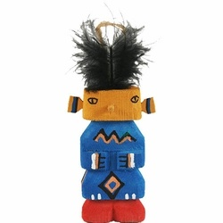 Navajo ''Yei'' Ornament - These colorful ornaments a fun addition to any holiday tree. Handcrafted and painted by Navajo artisans. Yei is actually the abbreviated word for the special category of Holy People in Navajo mythology known as YeiBeiChei. There are many Yeis each possessing different healing powers.