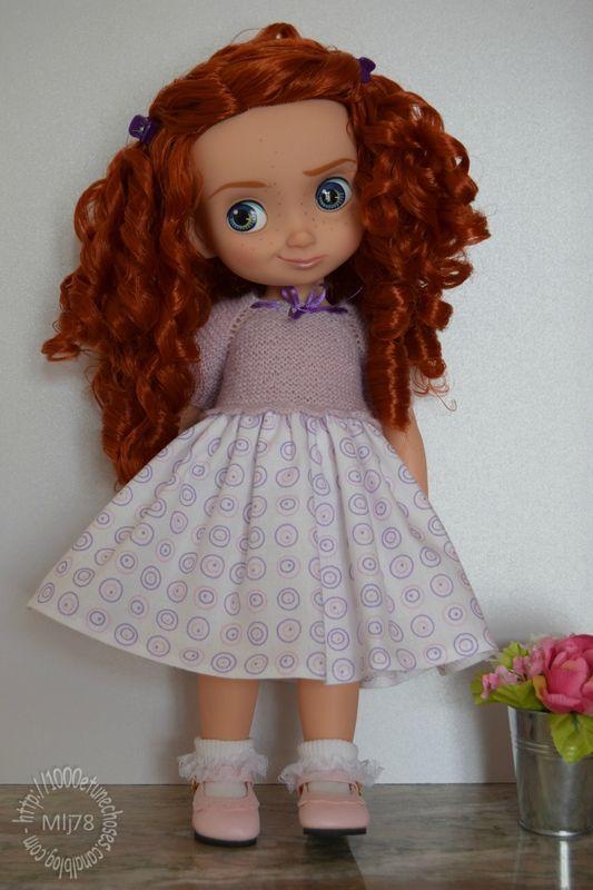 Tuto - Haut de robe pour poupées Disney Animators (Modèle de base) - http://1000etunechoses.canalblog.com/archives/2016/02/15/33373165.html