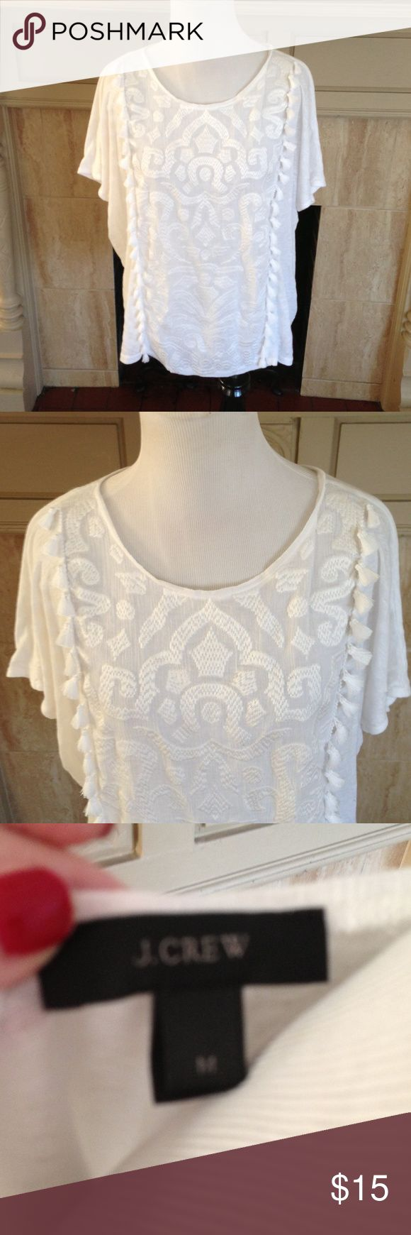 J Crew Boho Fringe Top Excellent condition J. Crew Tops