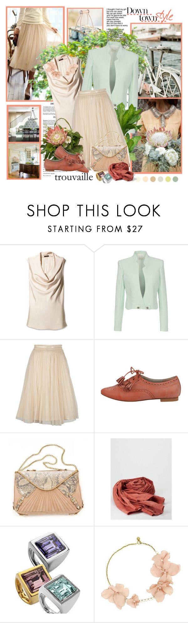 """trouvaille"" by helleka ❤ liked on Polyvore featuring Keen Footwear, PLANT, Theory, Thierry Mugler, Naf Naf, Rebecca Minkoff, Kenneth Jay Lane, Lanvin, pleated skirts and statement necklaces"