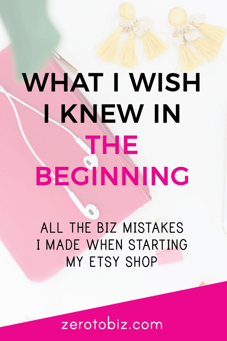 The mistakes I made when starting an Etsy shop