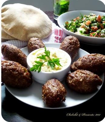 Arabic food, Kibbe, tabule, hummus and pita bread @Influenster
