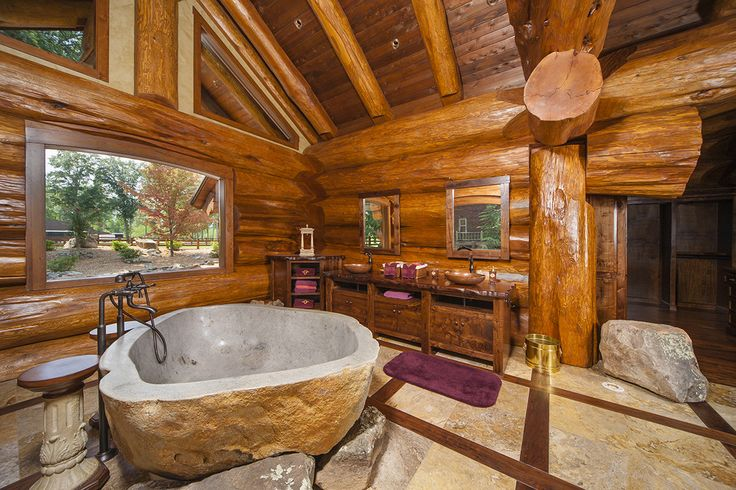 78 best ideas about log home bathrooms on pinterest log cabin bathrooms cabin bathrooms and - Pioneering bathroom designs ...