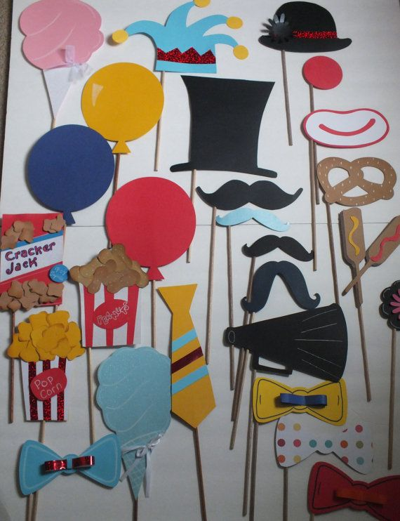 PHOTO BOOTH PROPS fun at the circus 2       by flutterbugfrenzy, $43.25