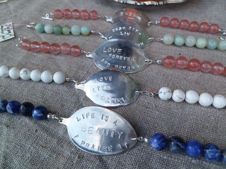 Armbåndene er lagd av skaftet av gamle t-skjeer LIFE IS A GAME - I PLAY IT. Bracelets made from the shaft of an old spoon. Epla.no/shops/byjanem/ Facebook.com/ByJaneM/ Instagram:@byjanem