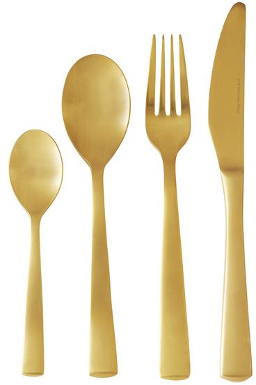 Smith + Nobel Platinum Iconic Cutlery Set Gold 18/0 24pc $69.95