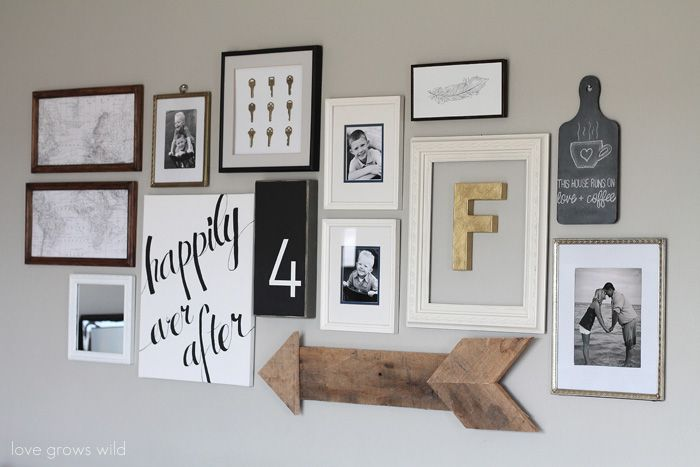 Creating a Gallery Wall - Beneath My Heart