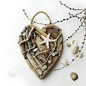 Подарки к праздникам ручной работы. Ярмарка Мастеров - ручная работа Сердце `Любовь и море подвеска-валентинка. Handmade.
