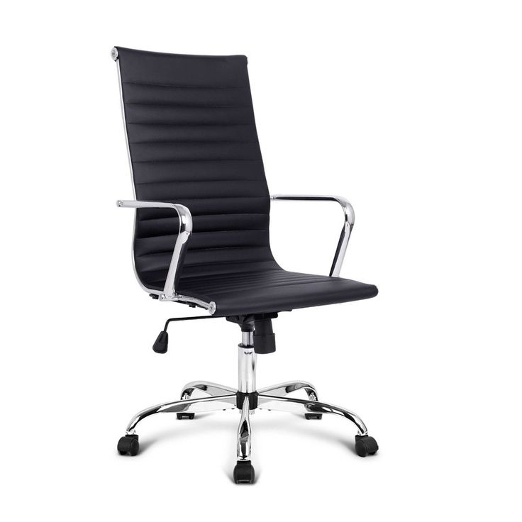 Eames Replica PU Leather High Back Executive Designer Office Chair-Black