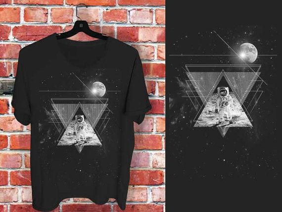 astronot in moon nebula a 100 cotton branded by bluebeeshirt, $18.50