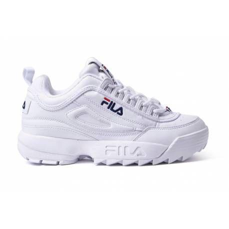reputable site 457a2 d224f Fila Disruptor blancas baratas por 57,95€ para mujer y hombre con envío  gratis
