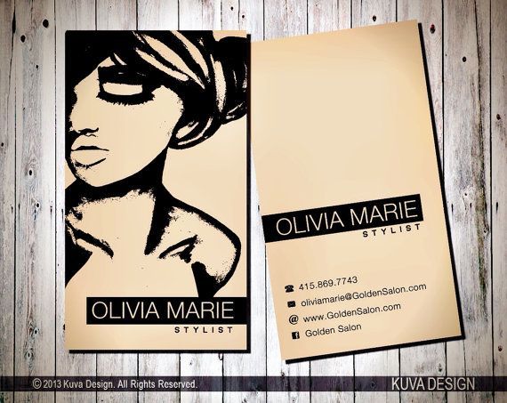 Stylist business cards for Business cards hair stylist