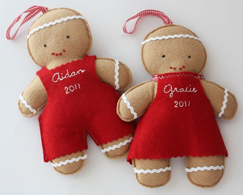 Personalized gingerbread -- too yummy to pass up!