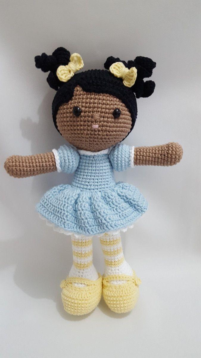 Boneca amigurumi/ boneca crochê (Boneca Alana) (com imagens ... | 1200x675