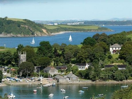 St. Anthony on Gillan Creek, with the Helford River and Falmouth Bay in the background