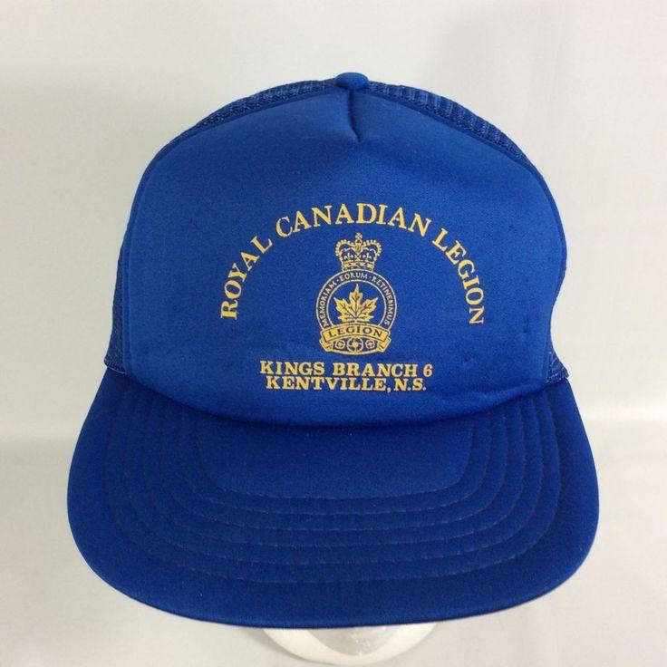 Royal Canadian Legion Kings Branch 6 Snap Back Canada VTG Trucker Hat Kentville #Unbranded #TruckerHat