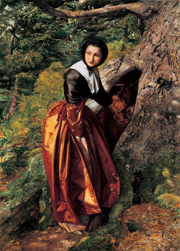 The Proscribed Royalist, 1651 by John Everett Millais, 1852-3