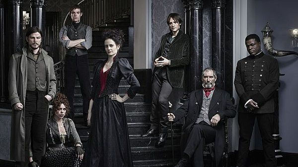 Josh Hartnett as Ethan Chandler, Billie Piper as Brona Croft, Harry Treadaway as Dr. Victor Frankenstein, Eva Green as Vanessa Ives, Reeve Carney as Dorian Gray, Timothy Dalton as Sir Malcolm and Danny Sapani as Sembeme. PHOTO- Jim Fiscus/SHOWTIME