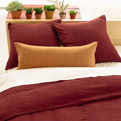 Chambray Terracotta Bedding Heat Up The Bedroom With A