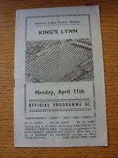 11/04/1966 Nuneaton Borough v Kings Lynn