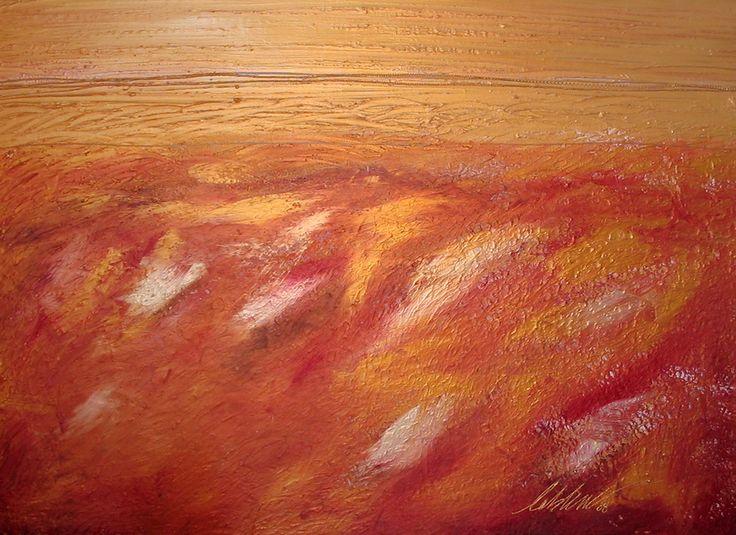 Feu Follet Acrylique et technique mixte sur toile ©Isabelle Leblanc