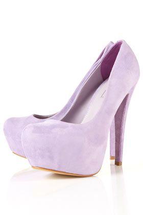 pretty lavender shoes.