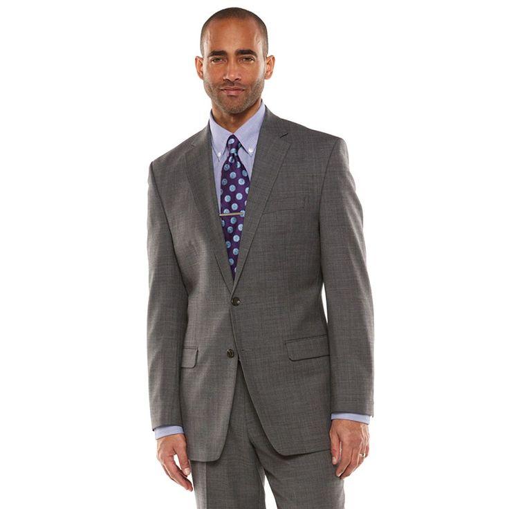 Men's Chaps Performance Classic-Fit Wool-Blend Comfort Stretch Suit Jacket, Size: 50 - regular, Grey