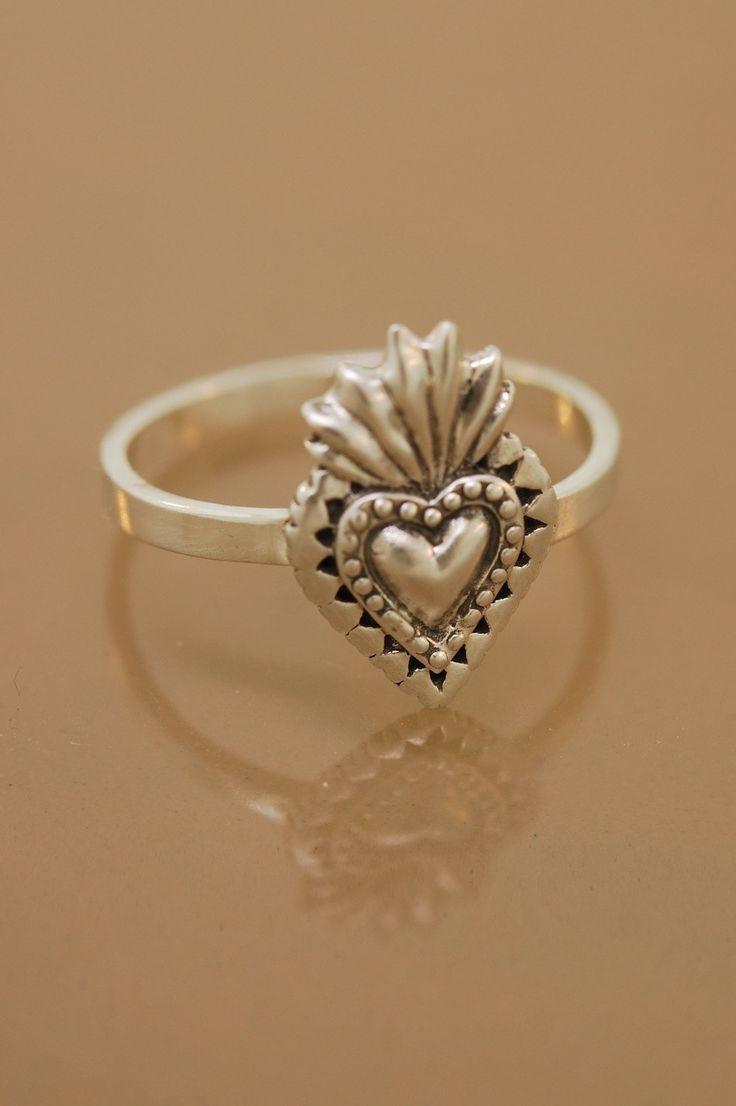 Sacred Heart Ring by Teri Lee via Etsy - MUST BUY