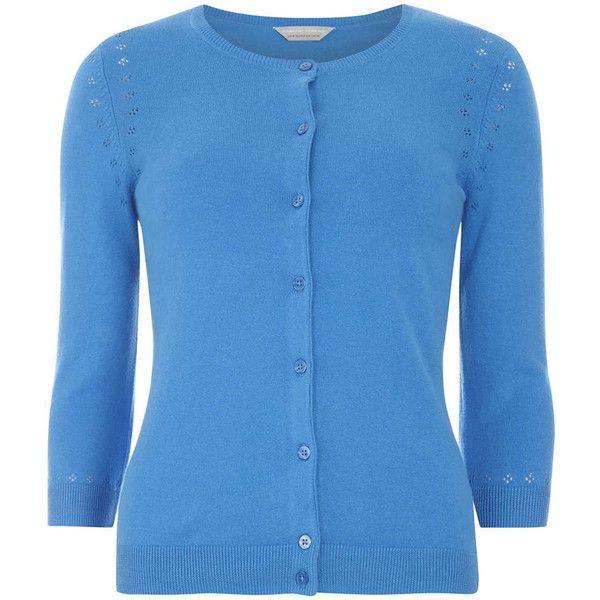 Dorothy Perkins Petite blue cardigan ($23) ❤ liked on Polyvore featuring tops, cardigans, blue, petite, dorothy perkins, petite tops, cardigan top, blue top and blue cardigan