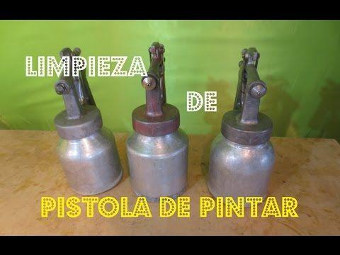 Truco De Limpieza Para Pistola y Otras Herramientas - Quitar Laca Barniz Poliester - YouTube