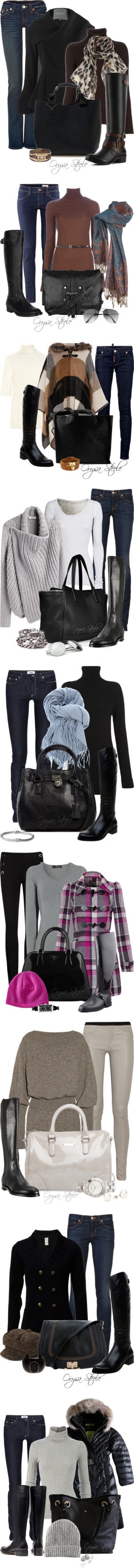 """Black Riding Boots"" by orysa on Polyvore"