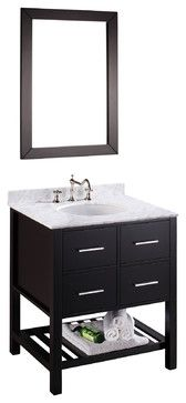 30'' Bosconi SB-250-1 Vanity Set - contemporary - bathroom vanities and sink consoles - Bosconi Wholesale Bathroom Vanities