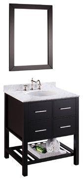 30'' Bosconi SB-250-1 Vanity Set - contemporary - Bathroom Vanities And Sink Consoles - Bosconi Wholesale Bathroom Vanities