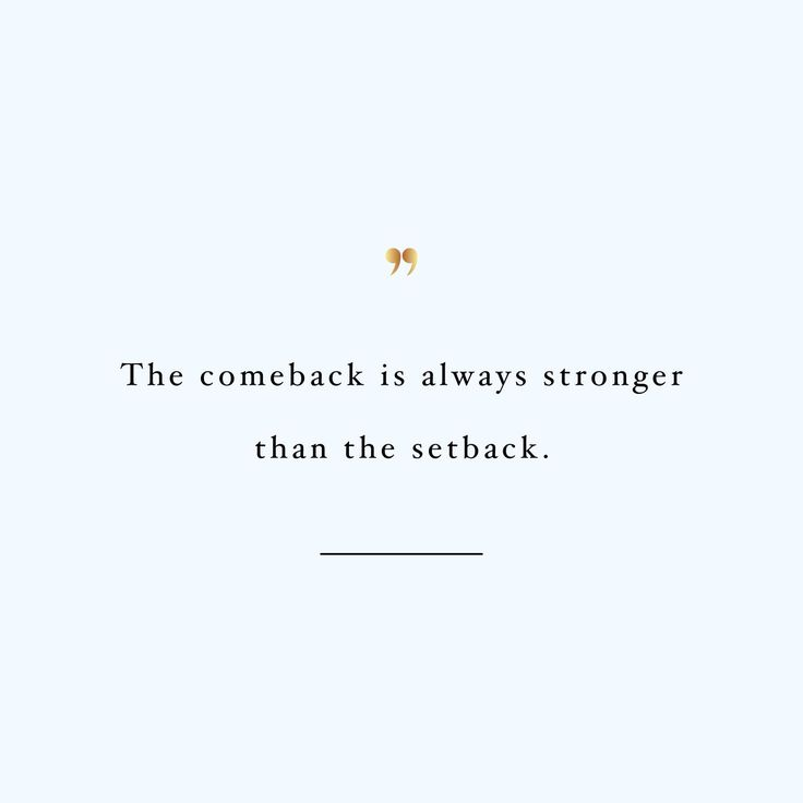 focus on the comeback