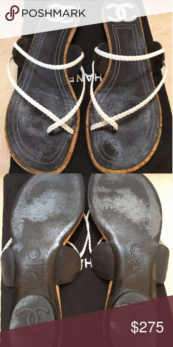 Chanel flip flop sandals size 39 *make an offer* These sandals will elevate your resort look. Simply beautiful. Good condition. CHANEL Shoes Sandals