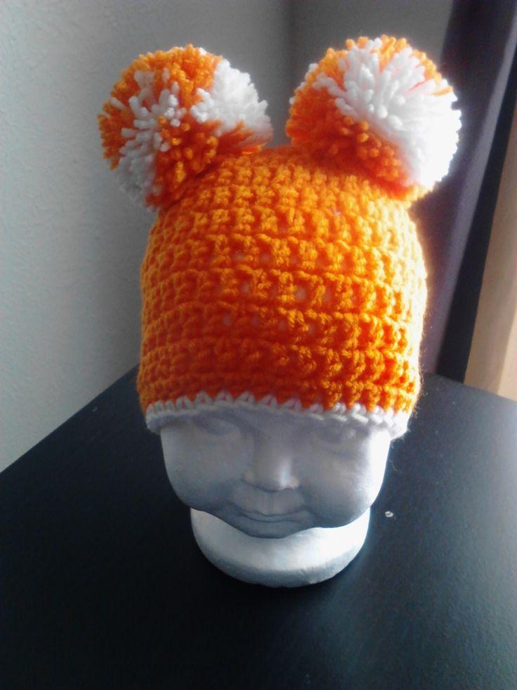 Crochet Pom Pom Beanie Hat - $15.00